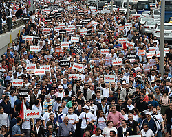 June 15, 2017 - Ankara, Turkey - Main opposition Republican People's Party (CHP) leader Kemal Kilicdaroglu said 'Enough is enough,' as he began a march from Ankara to Istanbul in protest at the detention of CHP lawmaker Enis Berberoglu in Ankara,Turkey. (Credit Image: © Depo Photos via ZUMA Wire)