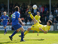Fotball<br /> England 2004/2005<br /> Foto: SBI/Digitalsport<br /> NORWAY ONLY<br /> <br /> Shrewsbury Town v Scunthorpe<br /> Coca Cola League Two. 07/05/2005<br /> <br /> Scunthorpe's Steve Torpey sends an overhead shot narrowly wide of the goal.