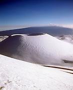 Mauna Kea with Mauna loa in Background, Island of Hawaii