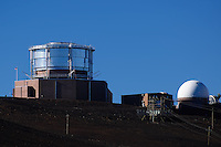 Haleakala Air Force Satellite Tracking Station.  Image taken with a Nikon D3x and 70-300 mm VR lens (ISO 100, 300 mm, f/8, 1/500 sec)