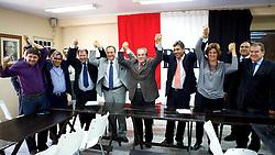 Lideranças politicas durante reunião no PTB para oficializar apoio formal a candidatura a vice do PMDB a chapa de candidatura de Jose Fortunati. FOTO: Jefferson Bernardes/Preview.com