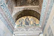 Turkey, Istanbul, Interior of the Hagia Sophia Museum religious Mosaic art