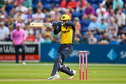 Owen Morgan of Glamorgan in action<br /> <br /> Photographer Craig Thomas/Replay Images<br /> <br /> Vitality Blast T20 - Round 4 - Glamorgan v Middlesex - Friday 26th July 2019 - Sophia Gardens - Cardiff<br /> <br /> World Copyright © Replay Images . All rights reserved. info@replayimages.co.uk - http://replayimages.co.uk