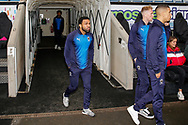 Wimbledon midfielder Andy Barcham (17) arrives during the EFL Sky Bet League 1 match between Coventry City and AFC Wimbledon at the Ricoh Arena, Coventry, England on 12 January 2019.