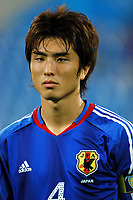"12/08/04 - THESSALONIKI - GREECE -  - JAPAN OLYMPIC MENS FOOTBALL TEAM -  <br />First match Group B - JAPAN () Vs. PARAGUAY -<br />At the THESSALONIKI ""KAFTATZOGLIO STADIUM"".<br />Min.= '   Japan player N*4 NASU Daisuke<br />© Gabriel Piko / Piko-Press"