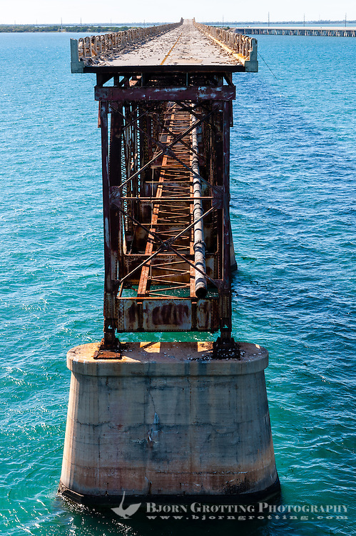 US, Florida Keys. Old Bahia Honda Bridge, Bahia Honda Key.