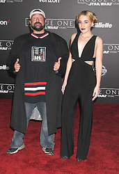 December 10, 2016 - Los Angeles, California, United States - December 10th 2016 - Los Angeles California USA - Actor KEVIN SMITH, HARLEY QUINN SMITH  at the World Premiere for ''Rogue One Star Wars'' held at the Pantages Theater, Hollywood, Los Angeles  CA (Credit Image: © Paul Fenton via ZUMA Wire)