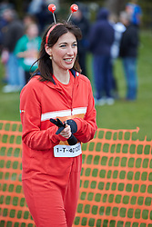 © Licensed to London News Pictures.  23/03/2014. OXFORD, UK.  SAMANTHA CAMERON (pictured) at the end of the Oxford Sport Relief Mile. Photo credit: Cliff Hide/LNP