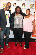 25 August New York, NY- l to r: Gregory Gates, Executive Producer, Imagenation Cinema Foundation, Actress Gabourey Sidibe and Moikgansti Kgama, Founder, Imagenation Cinema Foundation at the Imagenation Cinema Foundation Screening of '  Yelling to the Sky ' presented by the Imagenation Cinema Foundation and The Film Society of Lincoln Center held at the Walter Reade Theater at Lincoln Center on August 25, 2011 in New York, NY. Photo Credit: Terrence Jennings