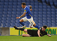 Football - 2020 / 2021 Premier League - Brighjton & Hove Albion vs West Hame United - Amex Stadium<br /> <br /> Brighton & Hove Albion's Ben White is tackled by West Ham United's Declan Rice.<br /> <br /> COLORSPORT