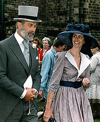Prince Michael of kent attends the wedding of Wensley Haydon-Baillie, former owner of Wentworth Woodhouse ..Images © Paul David Drabble