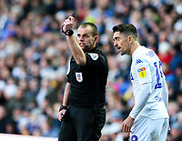 Referee Geoff Eltringham has a word with Leeds United's Pablo Hernandez<br /> <br /> Photographer Alex Dodd/CameraSport<br /> <br /> The EFL Sky Bet Championship - Leeds United v Nottingham Forest - Saturday 27th October 2018 - Elland Road - Leeds<br /> <br /> World Copyright © 2018 CameraSport. All rights reserved. 43 Linden Ave. Countesthorpe. Leicester. England. LE8 5PG - Tel: +44 (0) 116 277 4147 - admin@camerasport.com - www.camerasport.com