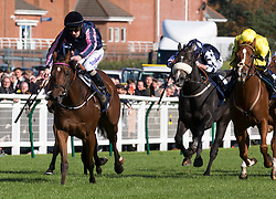 Queen of Bermuda ridden by Joe Fanning (left) win the William Hill Firth of Clyde Stakes during William Hill Ayr Gold Cup Day at Ayr Racecourse.