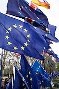 Anti Brexit pro Europe demonstration in Westminster on 27th March 2019 in London, England, United Kingdom. With the date of the UK leaving the European Union extended, the pro EU protest continues as MPs from all sides try to gain control of the process, as they debate the various options in the commons. (photo by Mike Kemp/In Pictures via Getty Images)