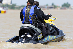 2008 Monsoon Cup. First round robins. Police patrolling on a jet ski (Thursday  4rd December 2008). .