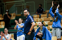 Damir Grgic, head coach of Slovenia during friendly basketball match between Women National Teams of Slovenia and Montenegro, on May 21, 2021 in Arena Tri Lilije, Lasko, Slovenia. Photo by Vid Ponikvar / Sportida