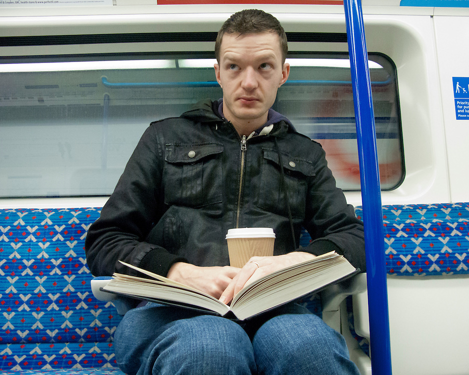 Portrait of a man on the London Underground Network