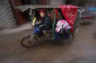 Bicycle taxi, Poyang Ho Lake, Jiangxi province, China