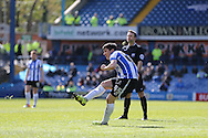 Sheffield Wednesday striker Fernando Forestieri (45) shoots at goal during the Sky Bet Championship match between Sheffield Wednesday and Cardiff City at Hillsborough, Sheffield, England on 30 April 2016. Photo by Phil Duncan.
