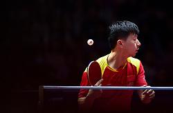 SHENZHEN, June 2, 2018  Ma Long of China returns the ball during the men's singles quarterfinal match against Liang Jingkun of China at the 2018 ITTF World tour China Open in Shenzhen, south China's Guangdong Province, June 2, 2018. Ma Long won 4-3. (Credit Image: © Mao Siqian/Xinhua via ZUMA Wire)