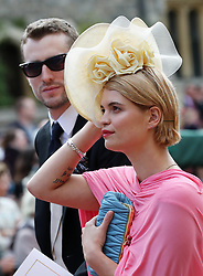 Pixie Geldof after the wedding of Princess Eugenie to Jack Brooksbank at St George's Chapel in Windsor Castle