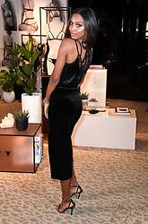 Jasmine Tookes visits Victoria's Secret New Bond Street, London alongside LIVY founder, Lisa Chavy to celebrate Victoria's Secret introducing LIVY.