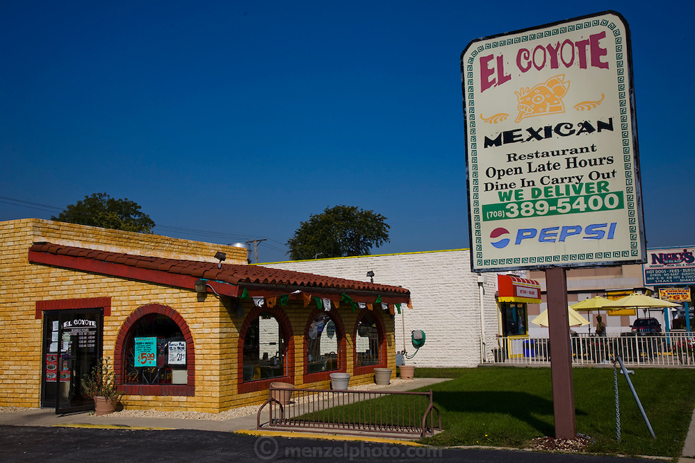 Lourdes Alvarez's Mexican Restaurant, El Coyote in Alsip, a Chicago suburb. (Lourdes Alvarez is featured in the book What I Eat;  Around the World in 80 Diets.)