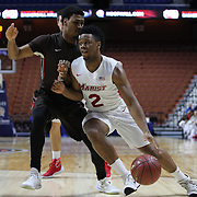 Brian Parker, Marist, in action during the Marist vs Brown Men's College Basketball game in the Hall of Fame Shootout Tournament at Mohegan Sun Arena, Uncasville, Connecticut, USA. 22nd December 2015. Photo Tim Clayton