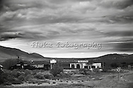 """On Interestate 10, just West of Van Horn, Texas, you will see this old abandoned gas station and restaurant.  20"""" x 13"""""""".  Printed on Parrot Digigraphic Ultra Lustre Photopaper.  Limited Edition of 25."""