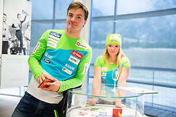 Rok Marguc and Iva Polanec during official presentation of the outfits of the Slovenian Ski Teams before new season 2016/17, on October 18, 2016 in Planica, Slovenia. Photo by Vid Ponikvar / Sportida