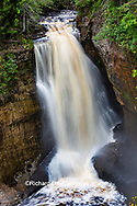64745-00310 Miner's Falls in fall, Pictured Rocks National Lakeshore Alger Co. MI