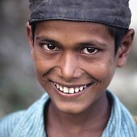 NEPAL, HIMALAYA, Village schoolboy near Junbesi in lowland Nepal.