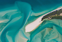 Aerial view of an isolated island at the Great Barrier Reef, Australia
