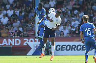 Paolo Gozzi Iweru of Italy (6) and Tyreece John-Jules of England (9) during the UEFA European Under 17 Championship 2018 match between England and Italy at the Banks's Stadium, Walsall, England on 7 May 2018. Picture by Mick Haynes.
