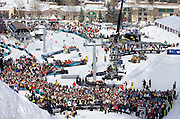 SHOT 1/26/08 3:14:21 PM - The scene at the bottom of Buttermilk Mountain and the slopestyle course Saturday January 26, 2008 at Winter X Games Twelve in Aspen, Co. at Buttermilk Mountain. The 12th annual winter action sports competition features athletes from across the globe competing for medals and prize money is skiing, snowboarding and snowmobile. Numerous events were broadcast live and seen in more than 120 countries. The event will remain in Aspen, Co. through 2010..(Photo by Marc Piscotty / © 2008)