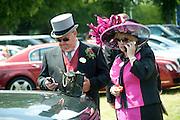 ANDREW ELLIOT; KATHERINE ELLIOT, Royal Ascot. Tuesday. 14 June 2011. <br /> <br />  , -DO NOT ARCHIVE-© Copyright Photograph by Dafydd Jones. 248 Clapham Rd. London SW9 0PZ. Tel 0207 820 0771. www.dafjones.com.