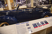 U.S. President Franklin Roosevelt's 1938 Ford Ford convertible car in the museum at the Little White House in Warm Springs, Georgia. FDR often vacationed at the home and died there while in office April 12, 1945.