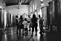 The family takes the Carmignano wine tour