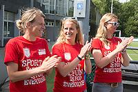 Amstelveen - NK LG Hockey KNHB in samenwerking met de Dirk Kuyt Foundation. . Henriette van Aalderen, Patricia Louter en  COPYRIGHT KOEN SUYK