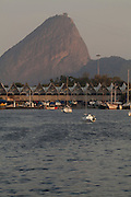 Rio de Janeiro_RJ, Brasil.<br /> <br /> Bahia de Guanabara e Pao de Acucar ao fundo no Rio de Janeiro.<br /> <br /> Bahia de Guanabara and Pao de Acucar in the background in Rio de Janeiro.<br /> <br /> Foto: LUIZ FELIPE FERNANDES / NITRO