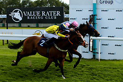 About Glory ridden by Tom Marquand trained by Iain Jardine wins the The Lancer Scott Handicap Stakes (Class 6) ahead of Red Gunner ridden by Rossa Ryan trained by Mark Loughnane - Mandatory by-line: Robbie Stephenson/JMP - 04/09/2019 - PR - Bath Racecourse - Bath, England - Bath Races