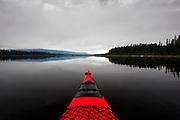 Paddling Seeley Lake, Montana.