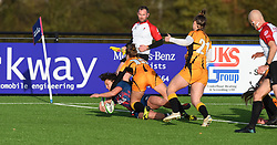 Serena Settembri of Bristol Bears opens the home team's account - Mandatory by-line: Paul Knight/JMP - 31/10/2020 - RUGBY - Shaftesbury Park - Bristol, England - Bristol Bears Women v Wasps FC Ladies - Allianz Premier 15s