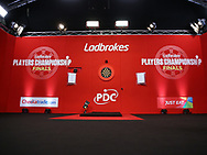 Stage during the 2018 Players Championship Finals at Butlins Minehead, Minehead, United Kingdom on 25 November 2018.