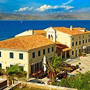 Corfu Old Town Harbour, Greek Ionian Islands