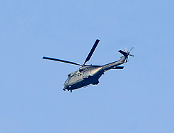 Helicopter over Edinburgh earlier. Edinburgh on the day after the Lockdown.