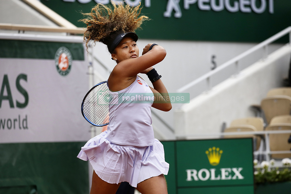 May 28, 2019 - Paris, France - Naomi Osaka of Japan plays against Anna Karolína Schmiedlová of Slovakia in the Round of 128 on Philippe Chatrier court in Roland Garros tournament in Paris, France, on 28 May 2019. (Credit Image: © Ibrahim Ezzat/NurPhoto via ZUMA Press)
