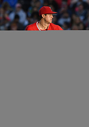 April 29, 2018 - Anaheim, CA, U.S. - ANAHEIM, CA - APRIL 29: Los Angeles Angels of Anaheim pitcher Tyler Skaggs (45) in action during the sixth inning off a game against the New York Yankees played on April 29, 2018 at Angel Stadium of Anaheim in Anaheim, CA. (Photo by John Cordes/Icon Sportswire) (Credit Image: © John Cordes/Icon SMI via ZUMA Press)