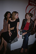 Leila Sadeghee, Rosie Wallin and Sue Beeby. Established and Sons UK Launch during Design Week. The Bus Depot, Hertford Road. Hoxton. 22 September 2005.  ONE TIME USE ONLY - DO NOT ARCHIVE © Copyright Photograph by Dafydd Jones 66 Stockwell Park Rd. London SW9 0DA Tel 020 7733 0108 www.dafjones.com