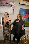 HAYAT PALUMBO AND ZAHA HADID, The Summer Ball. Royal Academy. Picadilly. London. 16 June 2008. *** Local Caption *** -DO NOT ARCHIVE-© Copyright Photograph by Dafydd Jones. 248 Clapham Rd. London SW9 0PZ. Tel 0207 820 0771. www.dafjones.com.